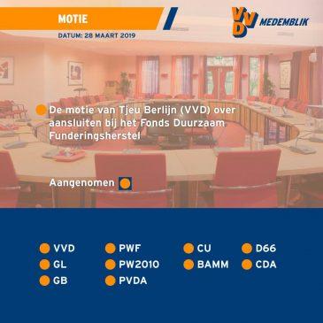 Voorstel VVD naar onderzoek funderingsproblematiek aangenomen