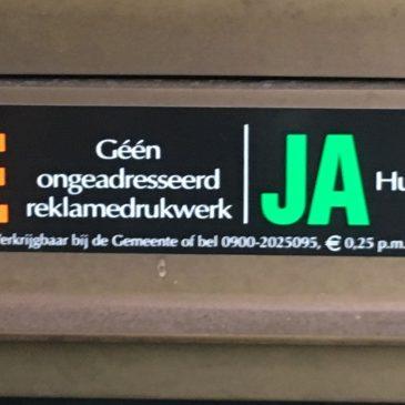 VVD zegt nee tegen Ja-Ja-sticker